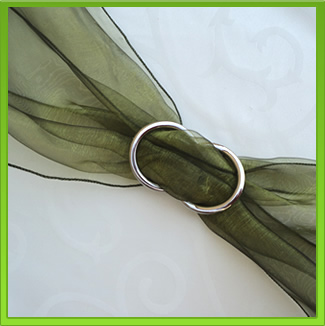 Olive Green Chair Sash (tie back)