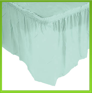 Mint Table Skirt / Frill (large)