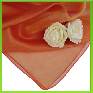 Orange Organza Table Overlay