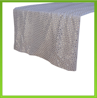 Silver Glitter Table Runner
