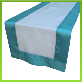 Turquoise Two-tone Table Runner